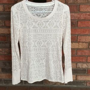 MAURICES LONG SLEEVE BURNOUT TOP